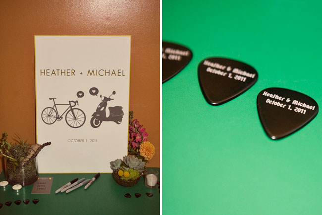 guitar pick wedding favors