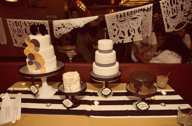 assorted wedding cakes