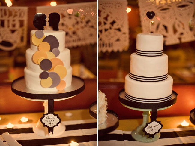 assorted wedding cakes
