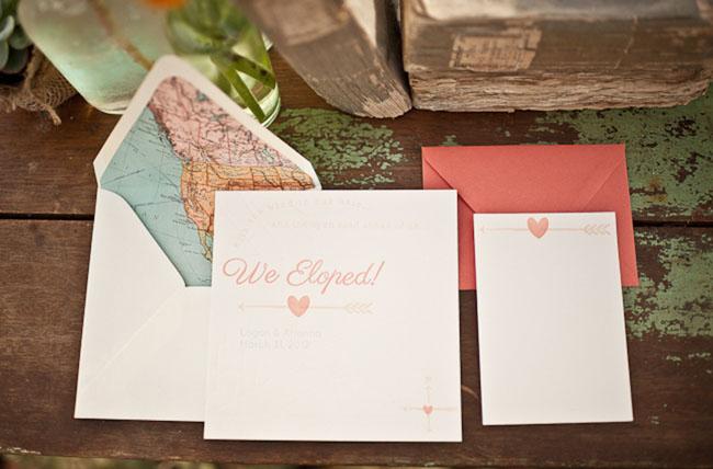 road trip elopement invite