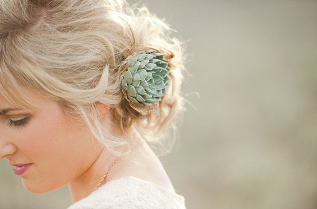 succulent hair piece