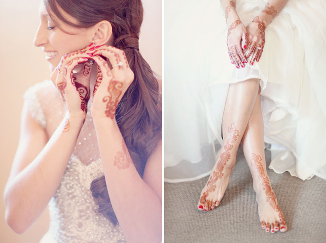 henna tattoo bride
