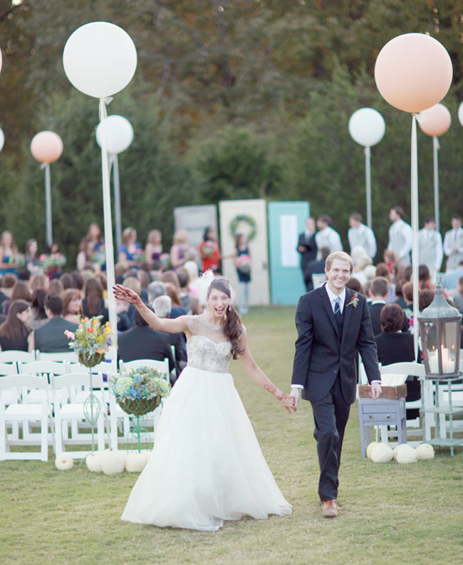 outdoor ceremony giant balloons