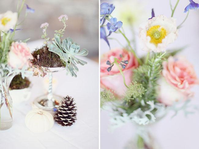succulent and flower centerpieces