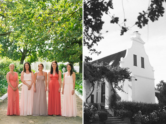 bridesmaids in long dresses