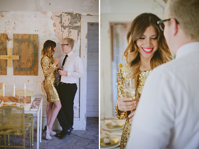 sparkly engagement