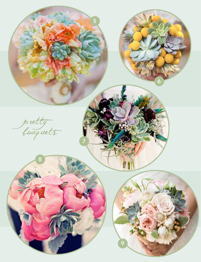 succulent flowers bouquets