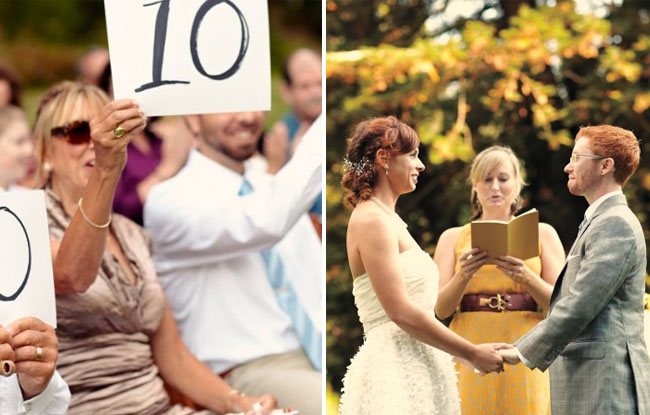 number signs for ceremony