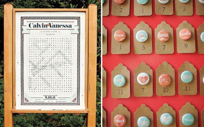 crossword wedding guestbook