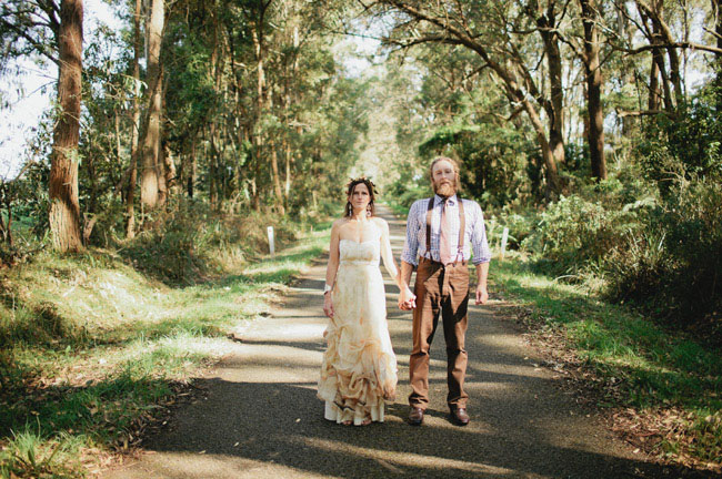 handmade backyard australian wedding harriet mat green wedding