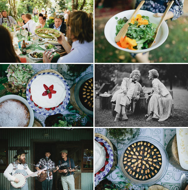 backyard lunch wedding