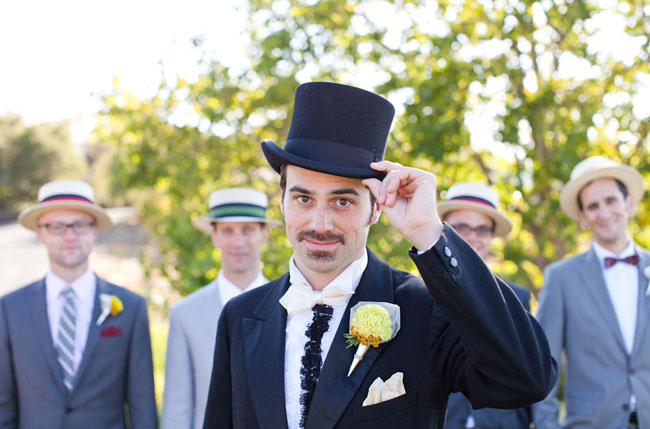 groomsmen in top hat