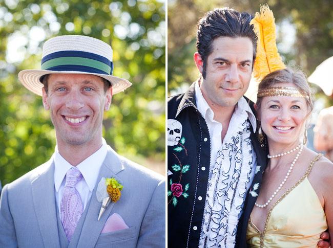 groomsmen wearing top hats
