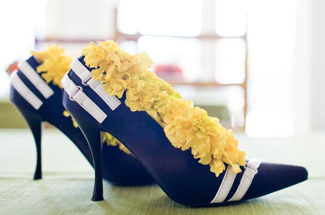 flowers in heels