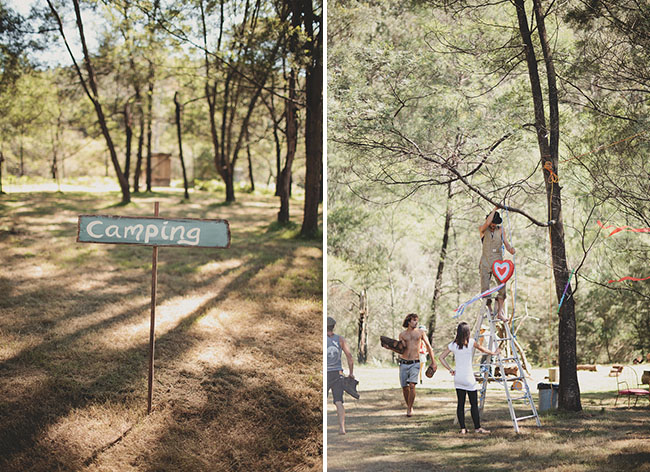 camp wedding sign