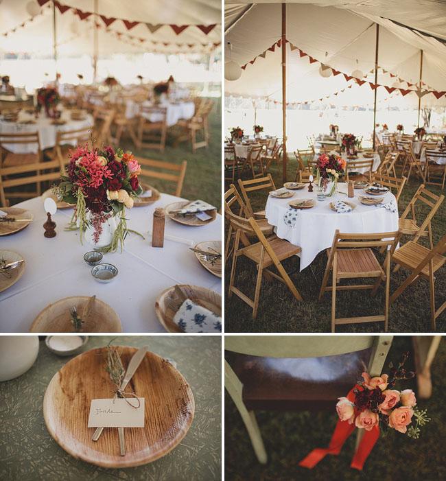 wedding tent in woods