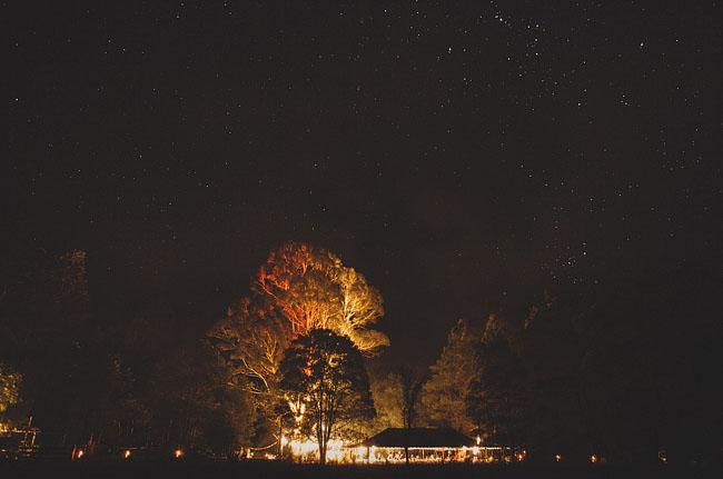 wedding reception with lights