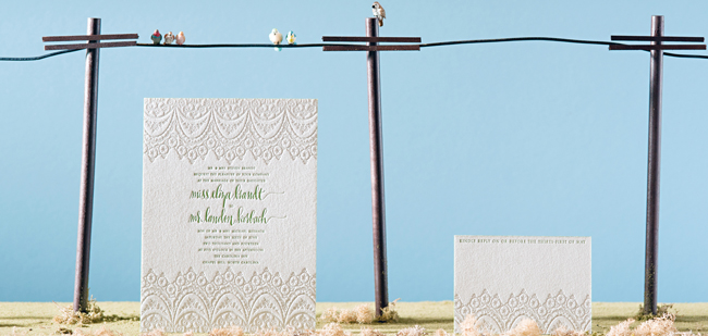 Bella Figura Letter Press Invitations