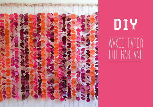 DIY Wax Paper Dot Garland