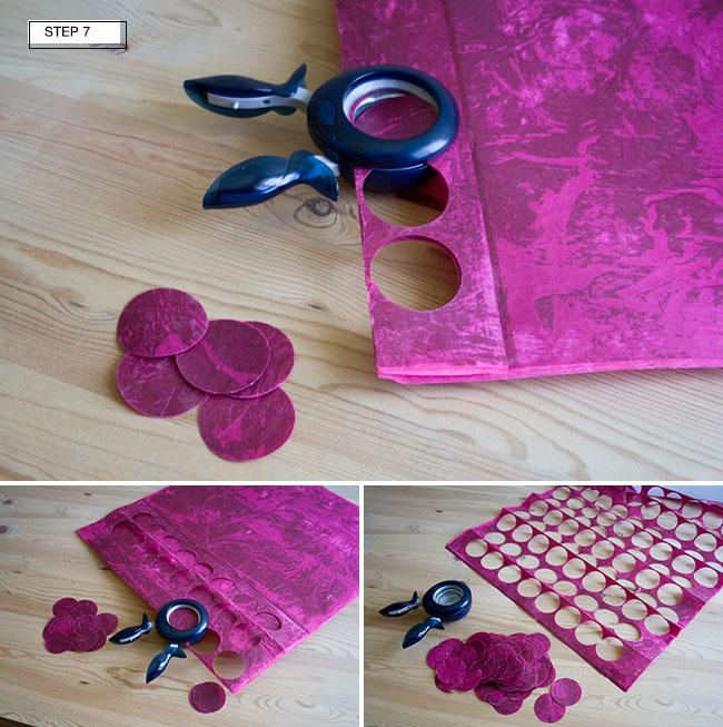 DIY wax dot garland