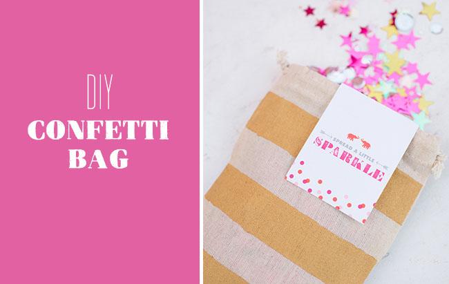 DIY Confetti Bag Title