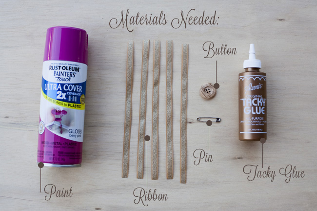 DIY fabric boutonniere materials