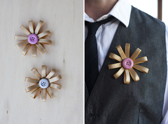 DIY fabric button boutonniere