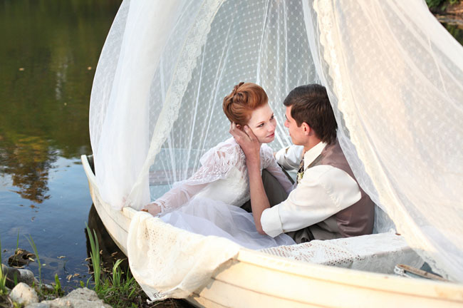 anne of green gables wedding inspiration boat