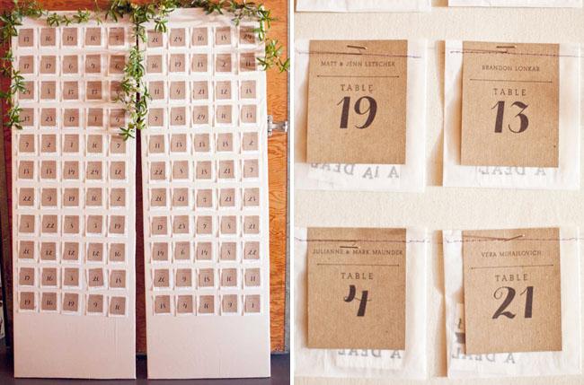 caligraphy door escort cards