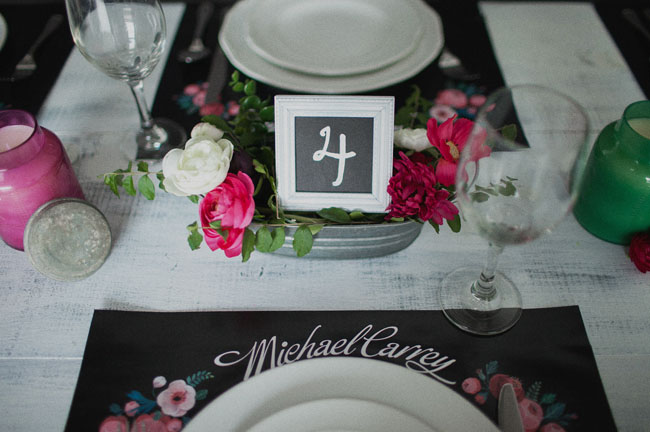 chalk wedding inspiration