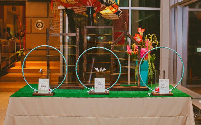 hula hoop childrens museum wedding