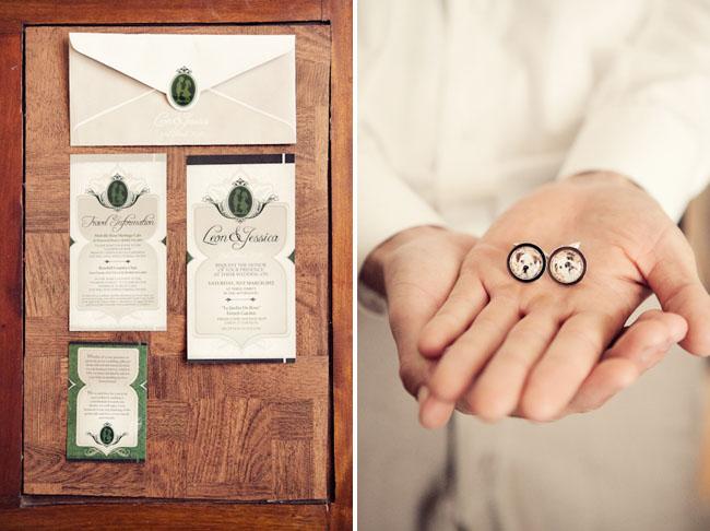 vintage cameo wedding invitations