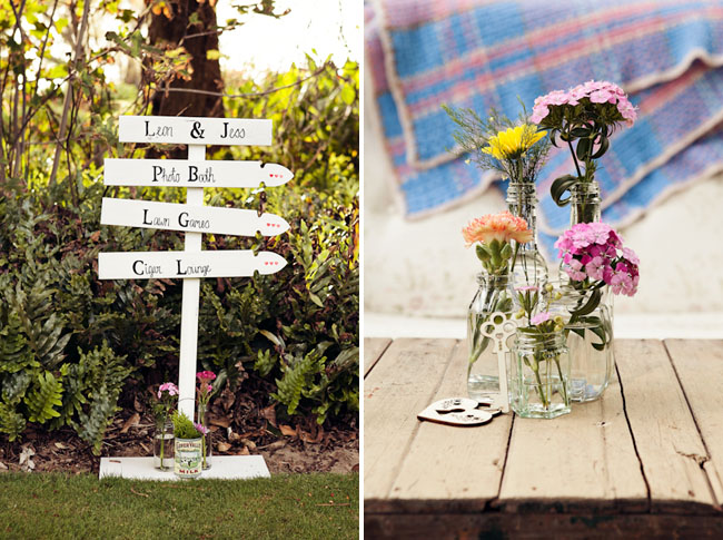 wedding sign arrows