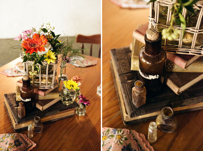 book centerpieces