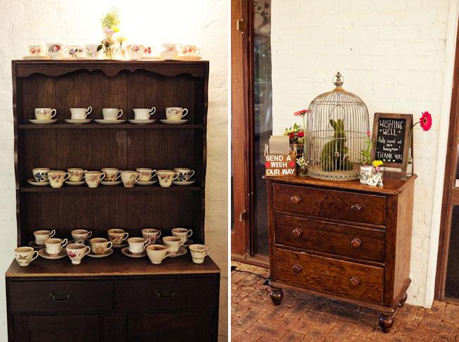 tea cup station wedding