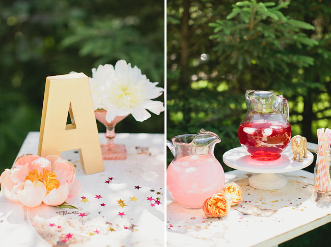 luxe circus bridal shower drink bar