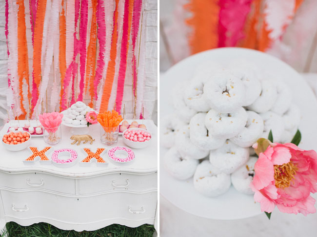 luxe circus bridal shower dessert bar