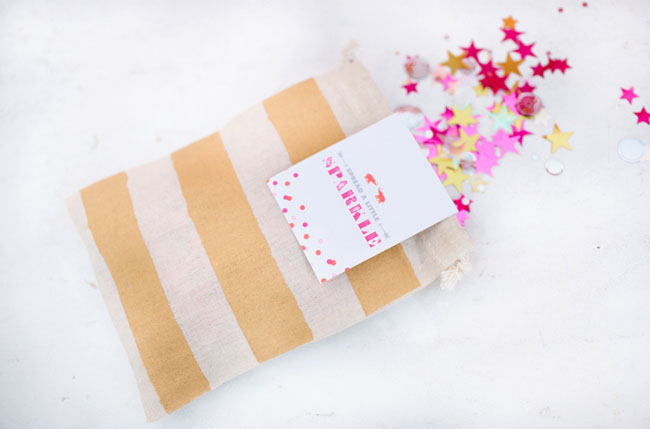 star confetti bag