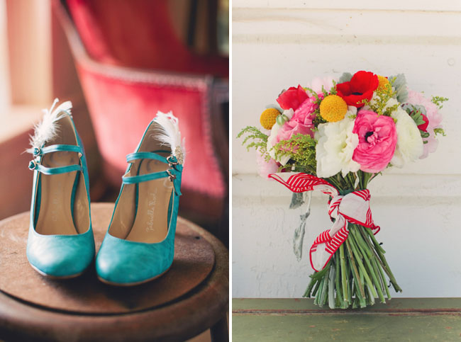 teal wedding heels