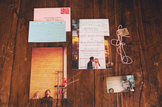 photo wedding invitation suite