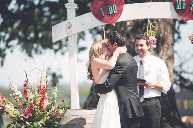 ranch wedding ceremony