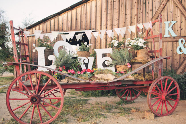 ranch wedding love letters