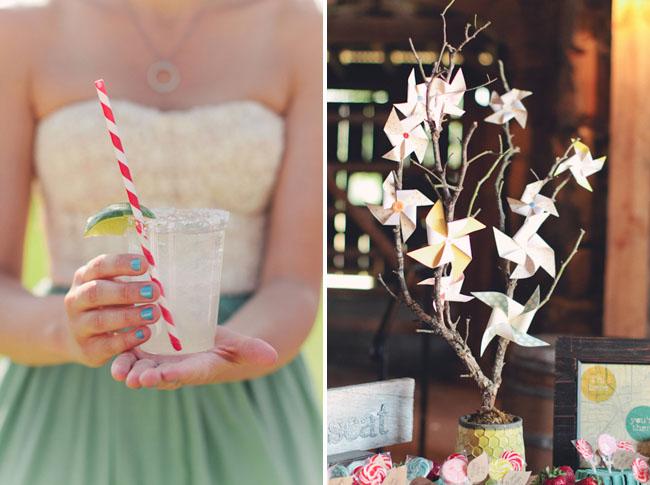ranch wedding pinwheels