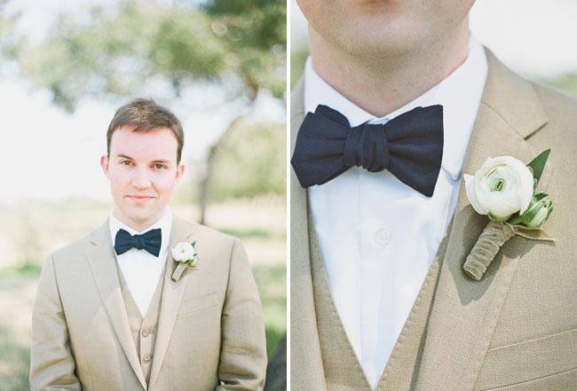 grooms wearing bow tie