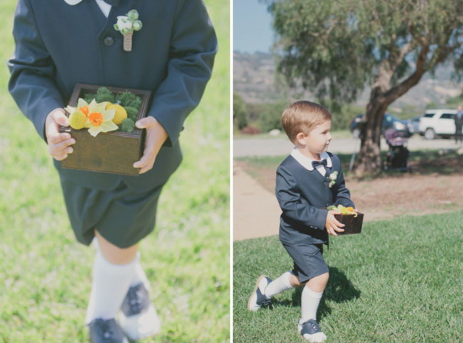 ring bearer wearing saddle shoes