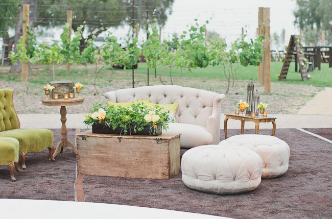 outdoor lounge area wedding