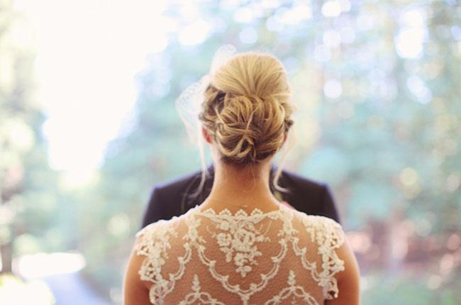 lace backed wedding dress