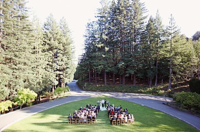 heart shaped grass ceremony