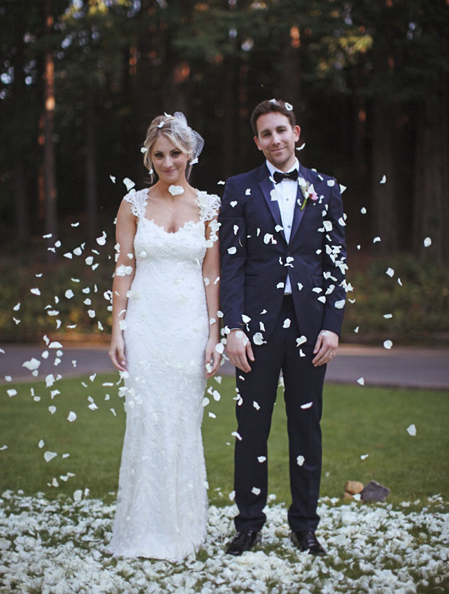 rustic mansion wedding white flowers