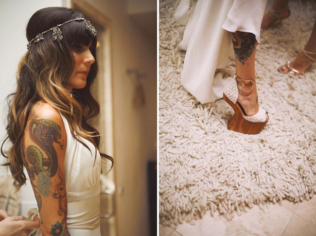 wooden slanted heels